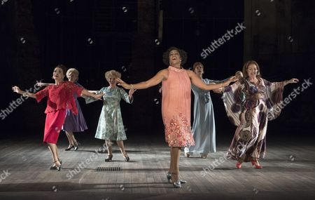 Stock Picture of Centre Imelda Staunton as Sally, Dawn Hope as Stella, Janie Dee as Phyllis