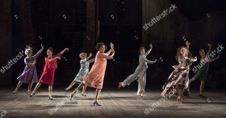 Stock Photo of Centre Imelda Staunton as Sally, Dawn Hope as Stella, Janie Dee as Phyllis