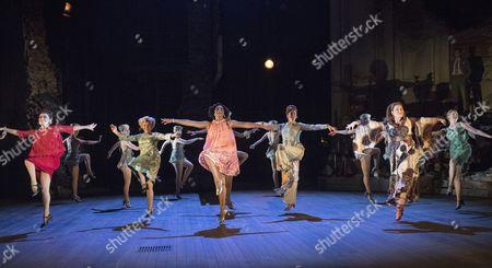 Centre Imelda Staunton as Sally, Dawn Hope as Stella, Janie Dee as Phyllis