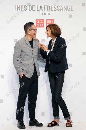 Editorial image of Uniqlo x Ines de la Fressange collection launch, Tokyo, Japan - 05 Sep 2017