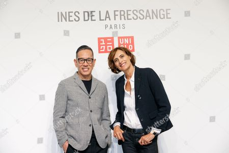 Uniqlo Creative Director Naoki Takizawa and fashion designer Ines de la Fressange