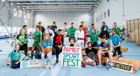 Pictured at the Sport Ireland National Sports Campus for the launch of Ireland?s first Family SportFest, being held there on Sunday 1st October are (L-R) Mia O'Rahilly Egan (Table Tennis), Saffron Cullen (Archery), Tom O'Brien (Penathlon), Gillian Pinder (Hockey), Mike McCarthy (Rugby), Edel Armstrong (Special Olympics Ireland), Kate Coleman (Penathlon), Sam Magee (Badminton), Robbie Benson (Soccer), Shane Lyndon (Gymnastics), Comhghall Guerrine (Gymnastics), Brendan Hyland (Swimming), Maxim Trigub (Judo), Jason Killeen (Basketball), Brian Byrne (Squash), Conal Keaney (Hurling), Ellen Keane (Paralympics), Alan Brogan (Football), Chloe Magee (Badminton), Gavin Maguire (Table Tennis), Conor Howe (Special Olympics Ireland) and Adam Taylor (Archery). The Family SportFest takes place during #BeActive European Week of Sport and will see the Sport Ireland National Sports Campus provide people of all ages the chance to sample some of the 30 different sports accommodated at Ireland?s national sports facility. There will also be meet and greets with some of Ireland?s sport stars, question and answer sessions with top athletes and coaches, a trophy zone with some of Ireland?s most famous silverware and a skill zone where parents and children alike can test their skills in a fun, non-competitive environment. The event runs from 11am to 4pm and is open to people of all ages and abilities. Tickets are priced at ?10 for a family ticket (two adults & up to three children), ?5 per adult and ?3 per child. . For more information on the Family SportFest log on to www.nationalsportscampus.ie/familysportfest