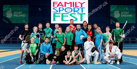 Pictured at the Sport Ireland National Sports Campus for the launch of Ireland?s first Family SportFest, being held there on Sunday 1st October are (L-R) Brian Byrne (Squash), Saffron Cullen (Archery), Mia O'Rahilly Egan (Table Tennis), Conal Keaney (Hurling), Brendan Hyland (Swimming), Gavin Maguire (Table Tennis), Gillian Pinder (Hockey), Chloe Magee (Badminton), Comhghall Guerrine (Gymnastics), Ellen Keane (Paralympics), Jason Killeen (Basketball), Alan Brogan (Football), Tom O'Brien (Penathlon), Mike McCarthy (Rugby), Robbie Benson (Soccer), Kate Coleman (Penathlon), Conor Howe (Special Olympics Ireland), Edel Armstrong (Special Olympics Ireland), Shane Lyndon (Gymnastics), Maxim Trigub (Judo) and Adam Taylor (Archery). The Family SportFest takes place during #BeActive European Week of Sport and will see the Sport Ireland National Sports Campus provide people of all ages the chance to sample some of the 30 different sports accommodated at Ireland?s national sports facility. There will also be meet and greets with some of Ireland?s sport stars, question and answer sessions with top athletes and coaches, a trophy zone with some of Ireland?s most famous silverware and a skill zone where parents and children alike can test their skills in a fun, non-competitive environment. The event runs from 11am to 4pm and is open to people of all ages and abilities. Tickets are priced at ?10 for a family ticket (two adults & up to three children), ?5 per adult and ?3 per child. . For more information on the Family SportFest log on to www.nationalsportscampus.ie/familysportfest