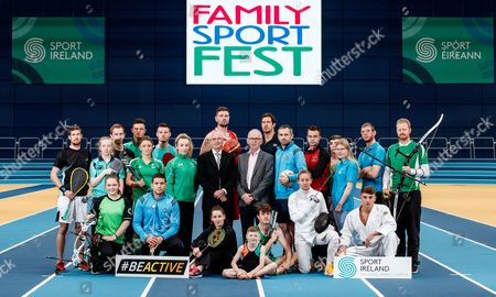 Pictured at the Sport Ireland National Sports Campus for the launch of Ireland?s first Family SportFest, being held there on Sunday 1st October are (L-R) Brian Byrne (Squash), Saffron Cullen (Archery), Mia O'Rahilly Egan (Table Tennis), Conal Keaney (Hurling), Brendan Hyland (Swimming), Gavin Maguire (Table Tennis), Gillian Pinder (Hockey), Chloe Magee (Badminton), Comhghall Guerrine (Gymnastics), Ellen Keane (Paralympics), Jason Killeen (Basketball), Alan Brogan (Football), Tom O'Brien (Penathlon), Mike McCarthy (Rugby), Robbie Benson (Soccer), Kate Coleman (Penathlon), Conor Howe (Special Olympics Ireland), Edel Armstrong (Special Olympics Ireland), Shane Lyndon (Gymnastics), Maxim Trigub (Judo) and Adam Taylor (Archery) with John Treacy (CEO Sports Ireland) and Michael Murray (Chief Operations Officer, Sports Ireland National Sports Campus). The Family SportFest takes place during #BeActive European Week of Sport and will see the Sport Ireland National Sports Campus provide people of all ages the chance to sample some of the 30 different sports accommodated at Ireland?s national sports facility. There will also be meet and greets with some of Ireland?s sport stars, question and answer sessions with top athletes and coaches, a trophy zone with some of Ireland?s most famous silverware and a skill zone where parents and children alike can test their skills in a fun, non-competitive environment. The event runs from 11am to 4pm and is open to people of all ages and abilities. Tickets are priced at ?10 for a family ticket (two adults & up to three children), ?5 per adult and ?3 per child. . For more information on the Family SportFest log on to www.nationalsportscampus.ie/familysportfest