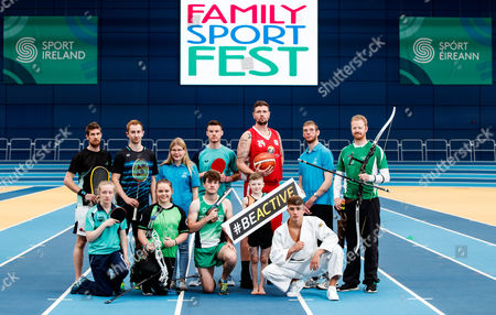 Pictured at the Sport Ireland National Sports Campus for the launch of Ireland?s first Family SportFest, being held there on Sunday 1st October are (L-R) Brian Byrne (Squash), Mia O'Rahilly Egan (Table Tennis), Sam Magee (Badminton), Saffron Cullen (Archery), Edel Armstrong (Special Olympics Ireland), Tom O'Brien (Penathlon), Gavin Maguire (Table Tennis), Jason Killeen (Basketball), Comhghall Guerrine (Gymnastics), Maxim Trigub (Judo), Edel Armstrong (Special Olympics Ireland) and Adam Taylor (Archery). The Family SportFest takes place during #BeActive European Week of Sport and will see the Sport Ireland National Sports Campus provide people of all ages the chance to sample some of the 30 different sports accommodated at Ireland?s national sports facility. There will also be meet and greets with some of Ireland?s sport stars, question and answer sessions with top athletes and coaches, a trophy zone with some of Ireland?s most famous silverware and a skill zone where parents and children alike can test their skills in a fun, non-competitive environment. The event runs from 11am to 4pm and is open to people of all ages and abilities. Tickets are priced at ?10 for a family ticket (two adults & up to three children), ?5 per adult and ?3 per child. . For more information on the Family SportFest log on to www.nationalsportscampus.ie/familysportfest