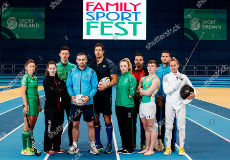 Pictured at the Sport Ireland National Sports Campus for the launch of Ireland?s first Family SportFest, being held there on Sunday 1st October are (L-R) Gillian Pinder (Hockey), Chloe Magee (Badminton), Brendan Hyland (Swimming), Alan Brogan (Football), Mike McCarthy (Rugby), Ellen Keane (Paralympics), Robbie Benson (Soccer), Shane Lyndon (Gymnastics), Conal Keaney (Hurling) and Kate Coleman (Penathlon). The Family SportFest takes place during #BeActive European Week of Sport and will see the Sport Ireland National Sports Campus provide people of all ages the chance to sample some of the 30 different sports accommodated at Ireland?s national sports facility. There will also be meet and greets with some of Ireland?s sport stars, question and answer sessions with top athletes and coaches, a trophy zone with some of Ireland?s most famous silverware and a skill zone where parents and children alike can test their skills in a fun, non-competitive environment. The event runs from 11am to 4pm and is open to people of all ages and abilities. Tickets are priced at ?10 for a family ticket (two adults & up to three children), ?5 per adult and ?3 per child. . For more information on the Family SportFest log on to www.nationalsportscampus.ie/familysportfest