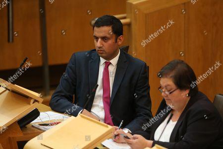 Anas Sarwar, Scottish Labour Leader candidate, and Jackie Baillie