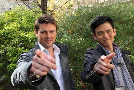 Karl Urban and John Cho
