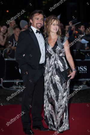 Richard Hammond, Mindy Hammond. Richard Hammond and Mindy Hammond pose for photographers upon arrival at the GQ's Men of The Year awards, in London