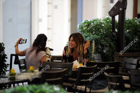 Editorial picture of Paola Caruso out and about, Milan, Italy - 05 Sep 2017