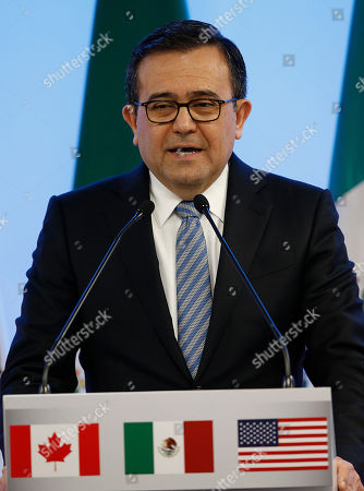 Mexico's Economy Secretary Ildefonso Guajardo Villarreal speaks during a press conference at the end of the second round of NAFTA renegotiations with the U.S. and Canada in Mexico City