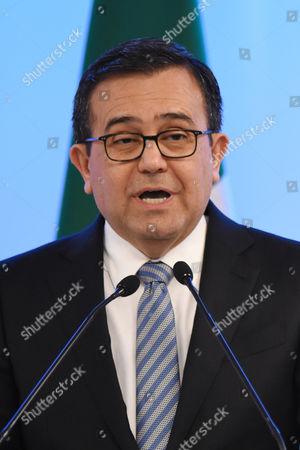 Mexico's Secretary of Economy Ildefonso Guajardo Villarreal is seen during the Second Round of NAFTA Negotiations