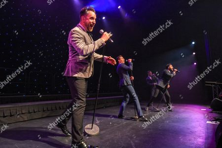 Editorial image of The Overtones in concert, Ffwernes Theatre, Llanelli, Wales, UK - 02 Sep 2017