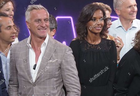 David Ginola and Karine Le Marchand
