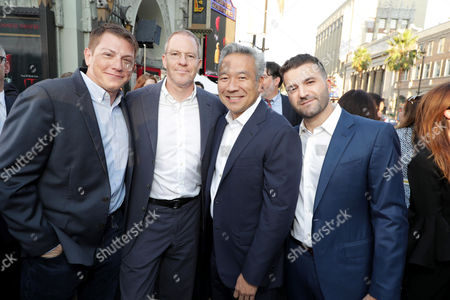 Seth Grahame-Smith, Producer, Toby Emmerich, President and Chief Content Officer, Warner Bros. Pictures Group, Kevin Tsujihara, Chairman and CEO of Warner Bros., David Katzenberg, Producer