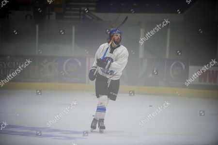 Stock Photo of Ice Hockey Player Liam Stewart Son Of Rod Stewart And Rachel Hunter During A Training Session For Coventry Blaze.
