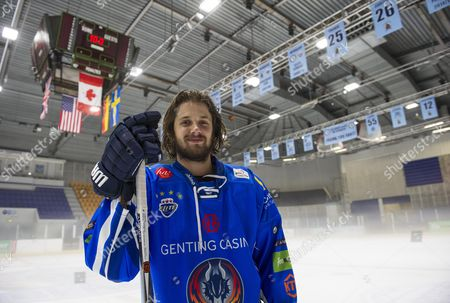 Ice Hockey Player Liam Stewart Son Of Rod Stewart And Rachel Hunter During A Training Session For Coventry Blaze.