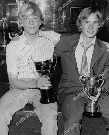 Teddy Maybank (left Blonde Hair) Who Has Signed For Chelsea And Robert Crampton At The South London Soccer Coaching Festival. Box 720 805121613 A.jpg.
