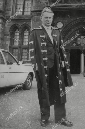 Reginald Bosanquet Newsreader In His New Role As Rector Of Glasgow University Pictured In His Robes. Box 722 907121621 A.jpg.