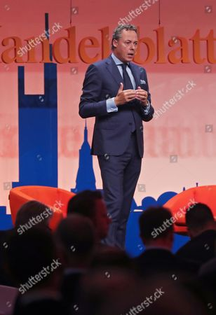 Ralph Hamers, CEO of ING Group, speaks at the 'Man meets Technology' Banking Summit in Frankfurt Main, Germany, 06 September 2017. The 'Man meets Technology' banking summit brings together moe than 500 decision-makers from banking, fintech, media and compliance sectors.