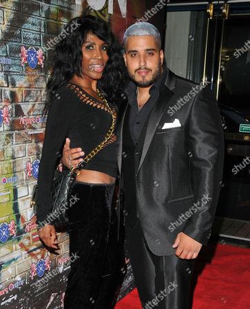 Stock Photo of Sinitta and Amar Adatia