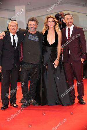 Carlo Bucciro, Marco Manetti, Claudia Gerini and Antonio Manetti