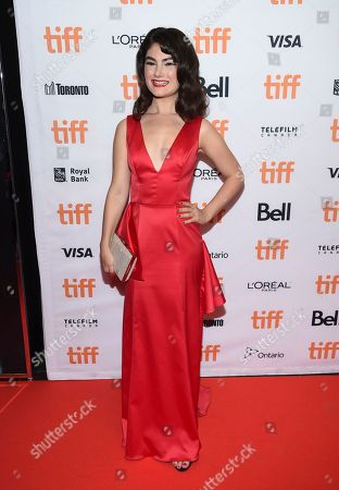 Stock Picture of Katie Boland attends the TIFF Soiree, an annual fundraiser and celebratory kick-off for the 2017 Toronto International Film Festival, at the TIFF Bell Lightbox, in Toronto