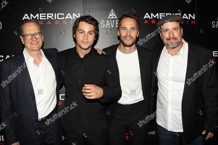 Stock Image of Stephen Schiff, Dylan O'Brien, Taylor Kitsch and Michael Cuesta