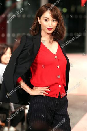 Stock Photo of Yuri Ebihara on the catwalk