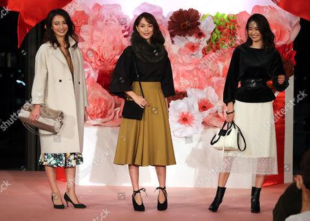 Satoumi, Yuri Ebihara and Midori Kuzuoka on the catwalk