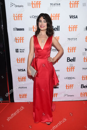 Stock Picture of Actress Katie Boland attends the TIFF Soiree, an annual fundraiser and celebratory kick-off for the 2017 Toronto International Film Festival, at the TIFF Bell Lightbox, in Toronto