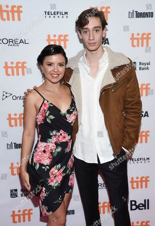 Mary Galloway, Theodore Pellerin. Actors Mary Galloway, left, and Theodore Pellerin attend the TIFF Soiree, an annual fundraiser and celebratory kick-off for the 2017 Toronto International Film Festival, at the TIFF Bell Lightbox, in Toronto