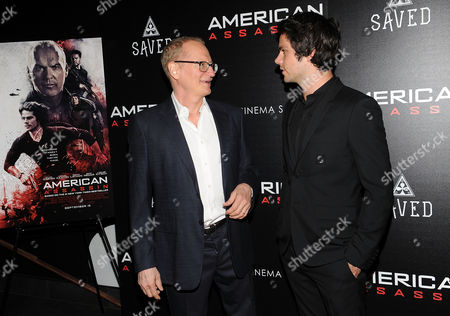 "Stephen Schiff, Taylor Kitsch. Stephen Schiff (L) and Taylor Kitsch attends the special screening of ""American Assassin"" at the iPic Theater, in New York"