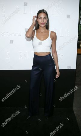 Stock Picture of Model Jessica Strother attends the ELLE, E! and IMG New York Fashion Week kick-off party at 5 Doyers St., in New York