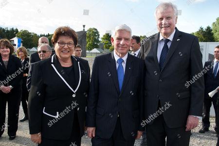 v.li. Barbara Stamm, Josef Schuster, Horst Seehofer