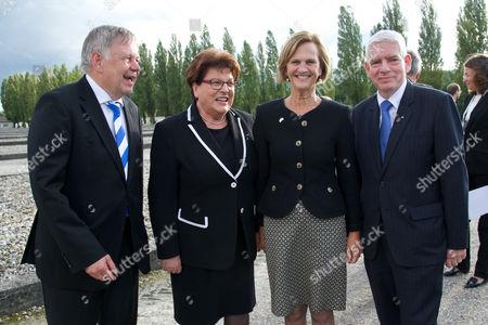 v.li. Karl Freller, Barbara Stamm, Karin Seehofer, Josef Schuster