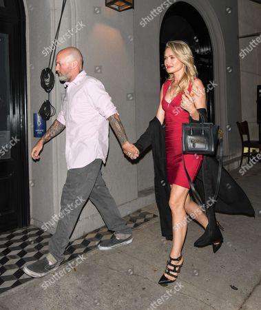Stock Photo of Fred Durst and Kseniya Beryazina at Craigs restaurant