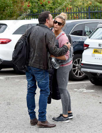 Gemma Atkinson leaves the Key 103 studios in Manchester to start her Strictly Come Dancing training. Her breakfast co star Mike Toolan gave her a good luck kiss.