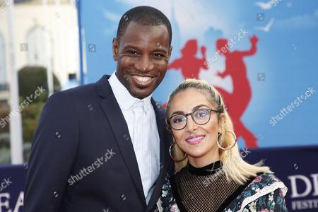 Abd al Malik and wife Wallen