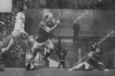 Alan Brazil The Manchester United Footballer Celebrating After Scoring Against West Ham United Today. Box 725 413121610 A.jpg.