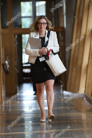 Scottish Parliament First Minister's Questions - Gillian Martin, makes her way to the Debating Chamber