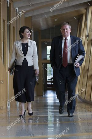 Scottish Parliament First Minister's Questions - Monica Lennon, and Alex Rowley, Deputy and acting Leader of the Scottish Labour Party, makes his way to the Debating Chamber