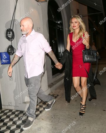 Fred Durst and Kseniya Beryazina at Craig's Restaurant