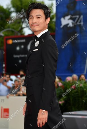 Stock Image of Chinese actor Geng Le arrives for the premiere of 'Jia Nian Hua' (Angels wear white)' at the 74th Venice Film Festival in Venice, Italy, 07 September 2017. The festival runs from 30 August to 09 September.