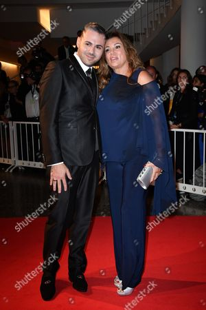 Stock Picture of Serena Grandi and son Edoardo Ercole