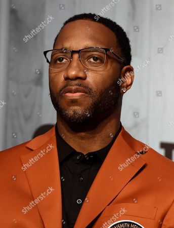 2017 class of inductee Tracy McGrady during a news conference at the Naismith Memorial Basketball Hall of Fame, in Springfield, Mass