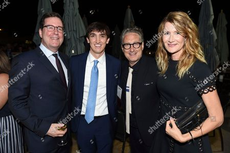 David Rubin, Matt Lander, Bernard Telsey, Laura Dern. David Rubin, Emmy nominee for Outstanding Casting For A Limited Series, Movie or Special for 'Big Little Lies', from left, Matt Lander, Bernard Kelsey, Emmy nominee for Outstanding Casting for a Drama Series for 'This is Us', and Laura Dern at The Television Academy's Casting Directors Nominee Reception at The Montage Beverly Hills, in Beverly Hills, Calif