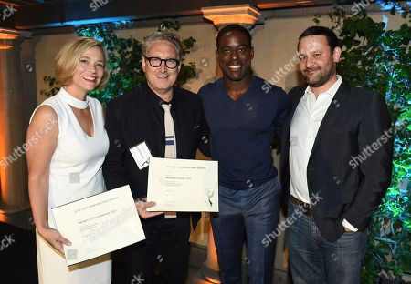 Tiffany Little Canfield, Bernard Telsey, Sterling K. Brown, Dan Fogelman. Tiffany Little Canfield, from left, Bernard Telsey, Sterling K. Brown, and Dan Fogelman, Emmy nominees for Outstanding Casting for a Drama Series for 'This Is Us' at The Television Academy's Casting Directors Nominee Reception at The Montage Beverly Hills, in Beverly Hills, Calif
