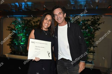 Jeff Probst, Lynne Spiegel Spillman. Lynne Spiegel Spillman, Emmy nominee for Outstanding Casting for a Reality Program for 'Survivor', left, and Jeff Probst at The Television Academy's Casting Directors Nominee Reception at The Montage Beverly Hills, in Beverly Hills, Calif