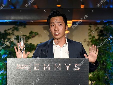 Kelvin Yu speaks at The Television Academy's Casting Directors Nominee Reception at The Montage Beverly Hills, in Beverly Hills, Calif